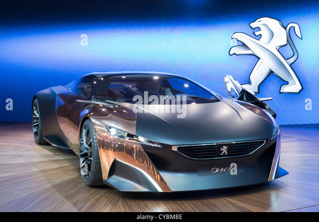 Concept car Peugeot Onyx at Paris Motor Show 2012 - Stock Image