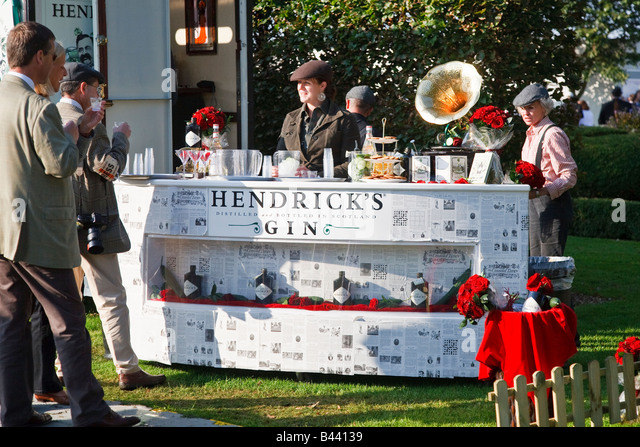 Hendricks Gin display stand at the Goodwood Revival west Sussex UK 2008 - Stock Image