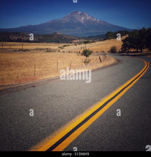 My Shasta back road - Stock Image