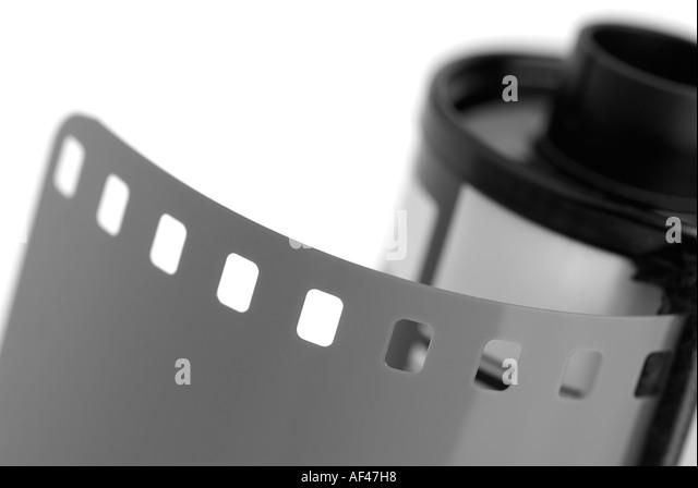 Roll of 35mm Camera Film - Stock Image