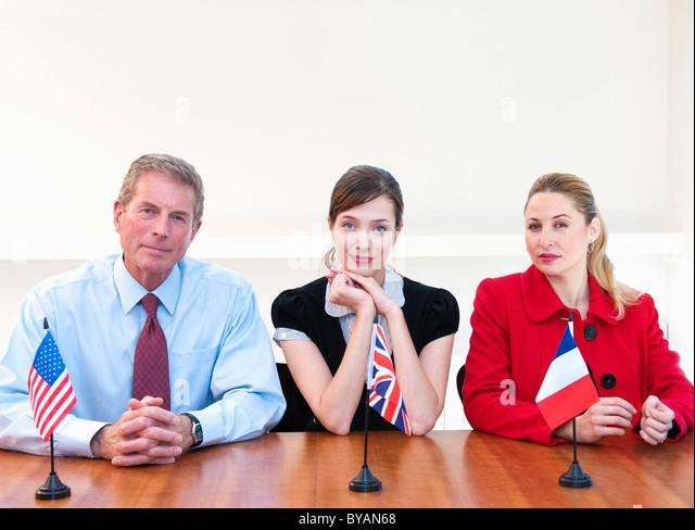 Three international business people - Stock-Bilder