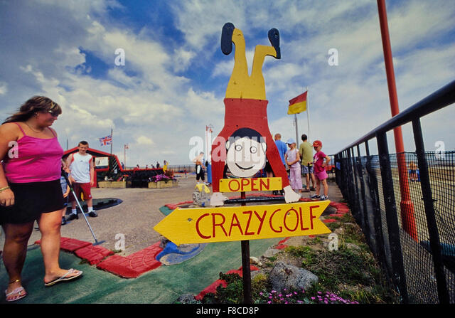 Crazy golf course at Mablethorpe. Lincolnshire. England. UK - Stock Image