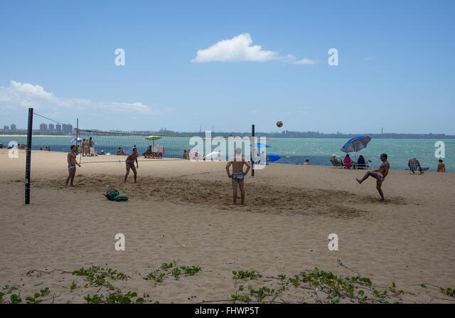 Beach Volleyball in Cambridgeshire - Stock Image