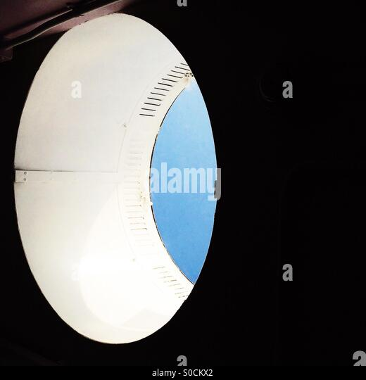 Abstract elliptical skylight - Stock Image