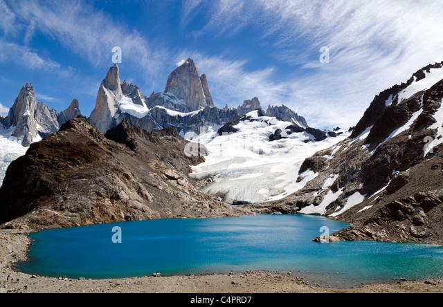 Torre Los Cerros, Los Glaciares National Park, Patagonia, Argentina - Stock Image
