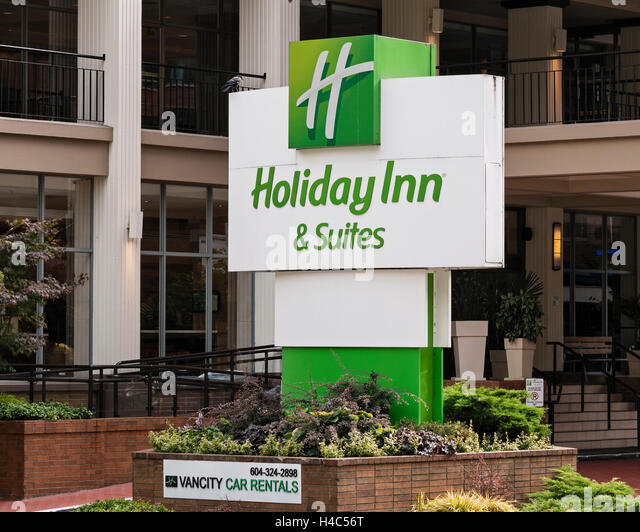 Holiday inn sign stock photos holiday inn sign stock for City center motor hotel vancouver