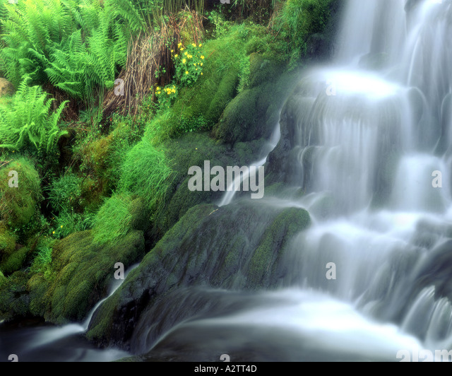 GB - SCOTLAND: Waterfall on Ben Dearg on the Isle of Skye - Stock Image