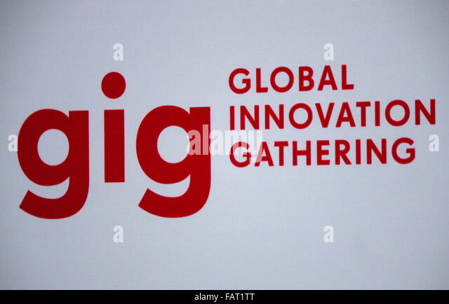 Markenname: 'Gig Global Innovation Gathering', Berlin. - Stock Image