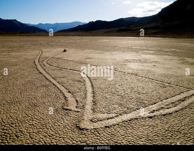 Rolling Rocks The Racetrack Death Valley National Park California Nevada USA - Stock-Bilder