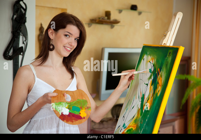 Oil Paintings Of Women Stock Photos & Oil Paintings Of ...
