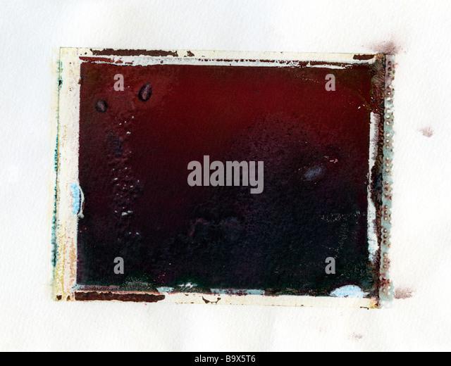 Polaroid emulsion transfer texture - Stock Image