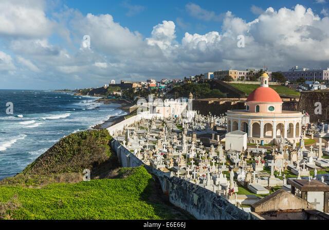 The Cemetery Santa Maria Magdalena, San Juan Puerto Rico - Stock Image