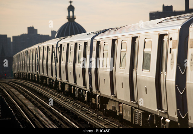 New york subway train - Stock Image