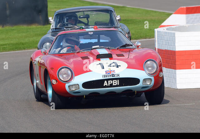 Ferrari 250 GTO Pininfarina Coupe owned by Anthony Bamford racing in the RAC TT celebration at the Goodwood Revival - Stock Image