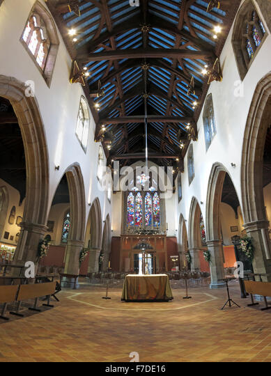 All Saints Church interior, Kingston Upon Thames,London,England,UK - Stock Image