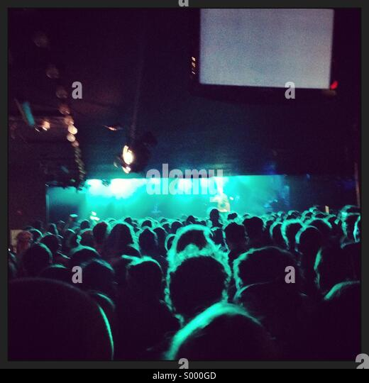 Crowd at a concert - Stock Image