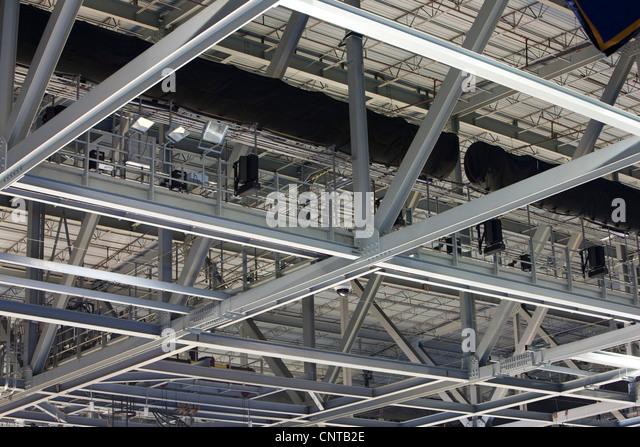 Ceiling in stadium - Stock Image