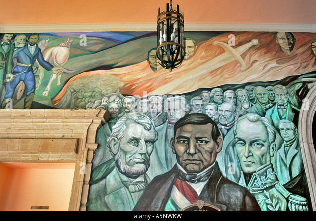 Chihuahua mexico historical stock photos chihuahua for Benito juarez mural