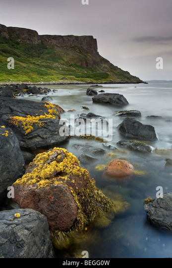 FairHead at sunrise. Co. Antrim, Northern Ireland. - Stock-Bilder