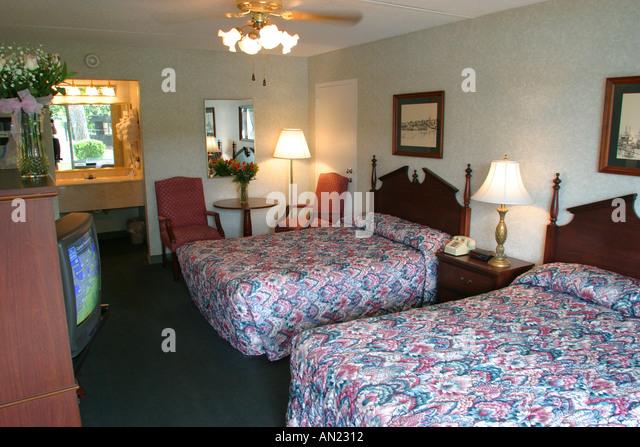 Mississippi Vicksburg Battlefield Inn guest room - Stock Image