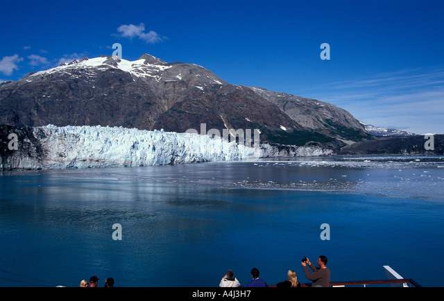 Alaska Cruise Glacier Bay - Stock Image
