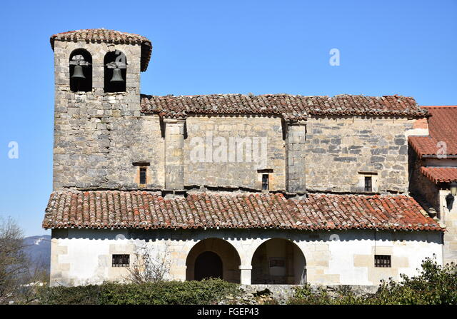 Guelbenzu church Navarra Spain - Stock Image