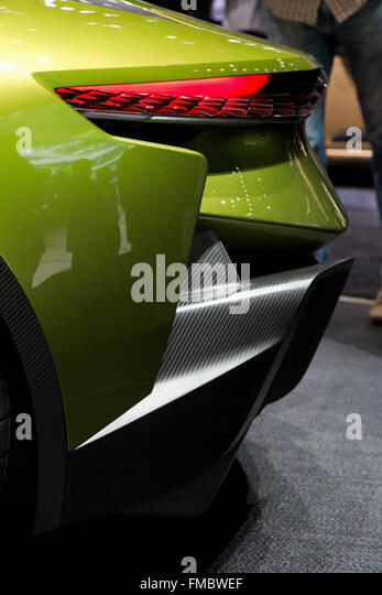 DS E-Tense electric concept car at the Geneva Motor Show 2016 - Stock Image