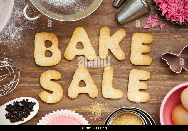 Bake sale cookies - Stock Image
