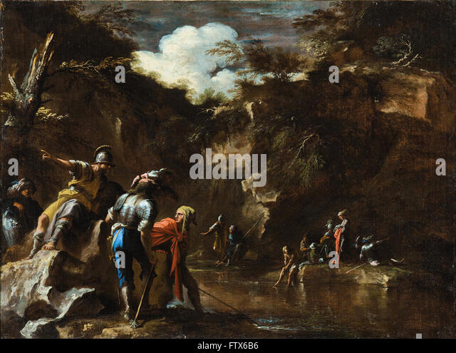 Salvator Rosa - Scene from Greek history - Stock Image