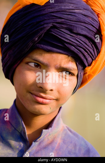 Sikh at Hollamohalla festival, Anandpursahib, Punjab, India - Stock-Bilder