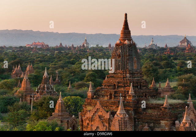 the Temples of Bagan, Myanmar (Burma) - Stock-Bilder