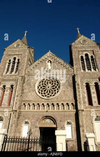 St Kitts Church of the Immaculate Conception Catholic Church Basseterre landmark across from Independence Square - Stock Image