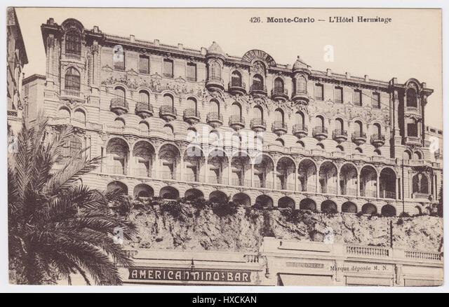 Hotel Hermitage, Monte-Carlo, Monaco - Stock Image