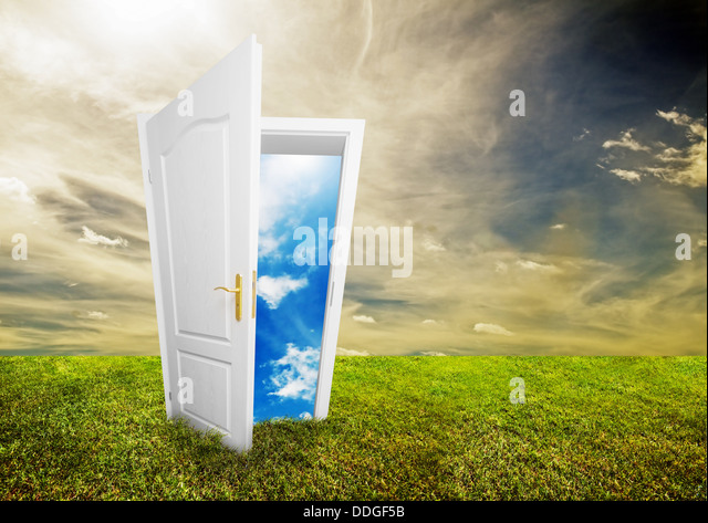 Bright future / choices concept - Stock Image