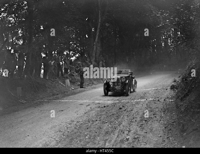 MG M type of GE Taylor taking part in a motoring trial, c1930s. Artist: Bill Brunell. - Stock-Bilder