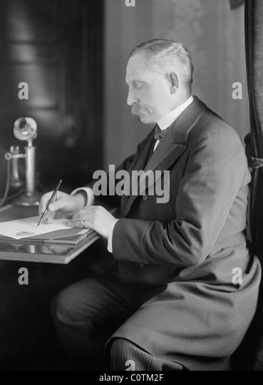 Paul Henri Benjamin Baluet d'Estournelles, Baron de Constant de Rebecque (1852 - 1924) - co-winner of Nobel - Stock Image
