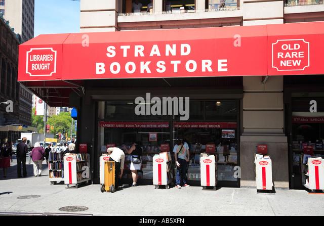 Strand Bookstore Manhattan 12th Street New York City USA - Stock Image