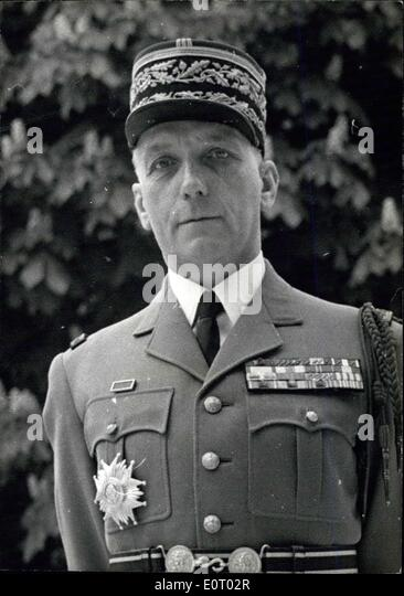 May 12, 1960 - General Olie Appointed General De Gaulle's Private Chief Of Staff: The Appointment of General - Stock Image