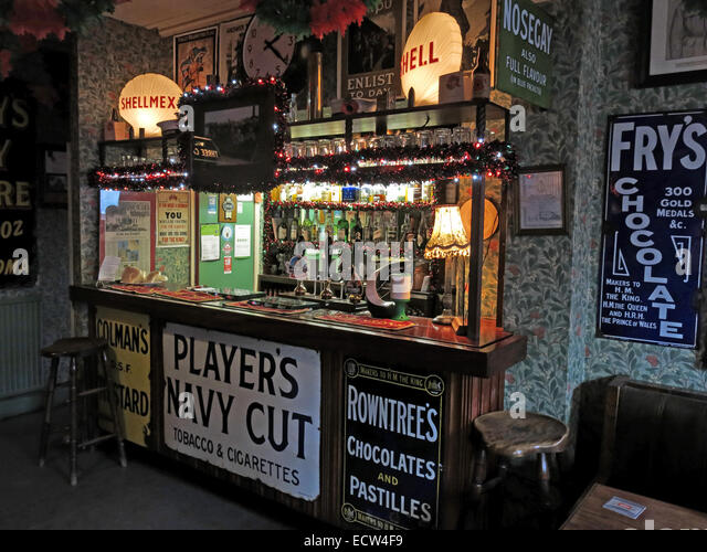 The Albion Inn, classic English Pub in Chester, England,UK,bar area - Stock Image