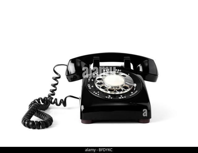 Old fashion rotary telephone - Stock Image