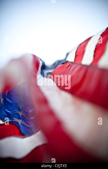 American Flag in the breeze - Stock-Bilder