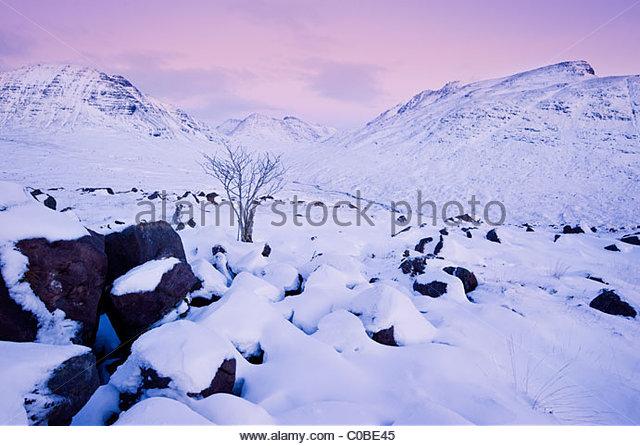 Torridon hills, Highlands of Scotland. - Stock Image
