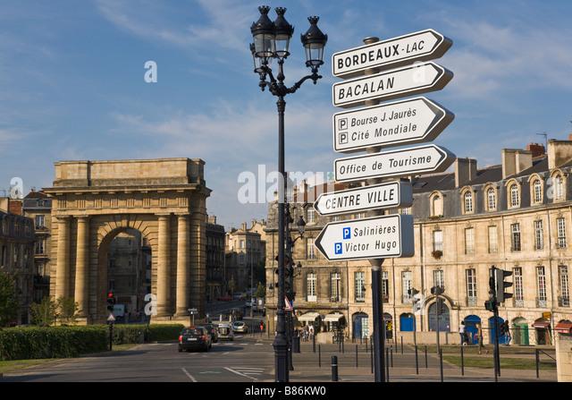 Porte des Salinieres, Bordeaux, Gironde, France - Stock Image