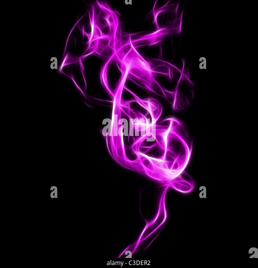 Abstract fractal background with a smoke effect - Stock Image