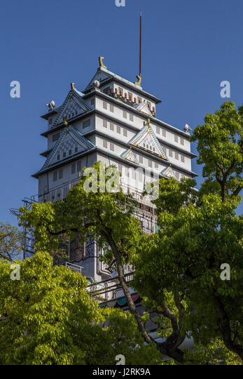 Daigo Nirvana Osaka Castle Love Hotel - Love hotels cater to romantic rendezvous or tawdry affair and in Japan have - Stock Image