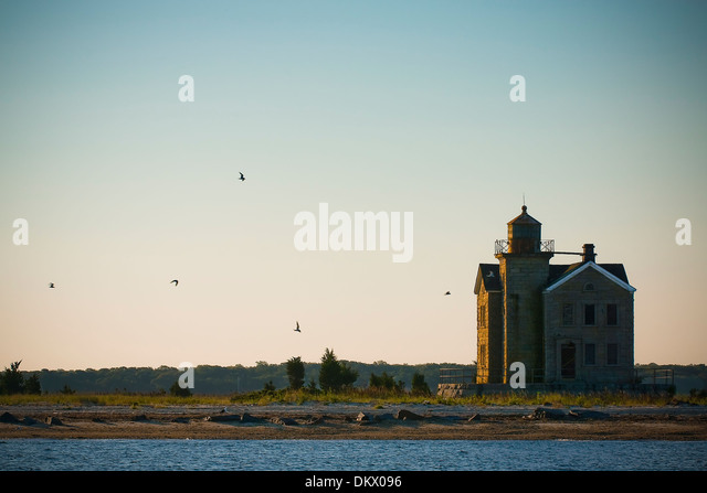Cedar Island Lighthouse, Sag Harbour NY - Stock-Bilder