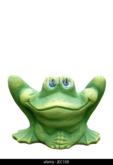 Tone character, garden decoration, frog, - Stock Image