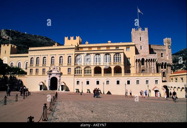 Monaco, Monte Carlo, Grimaldi-Palast - Stock Image