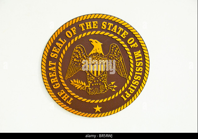 Great Seal of the State of Mississippi - Stock Image
