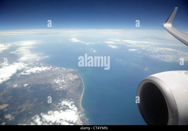Airplane window - Stock Image
